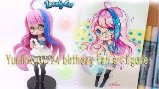 19?Yuniiho birthday doll?Clay Tutorial/ Anime Figure/ DIY/Lovely4u?
