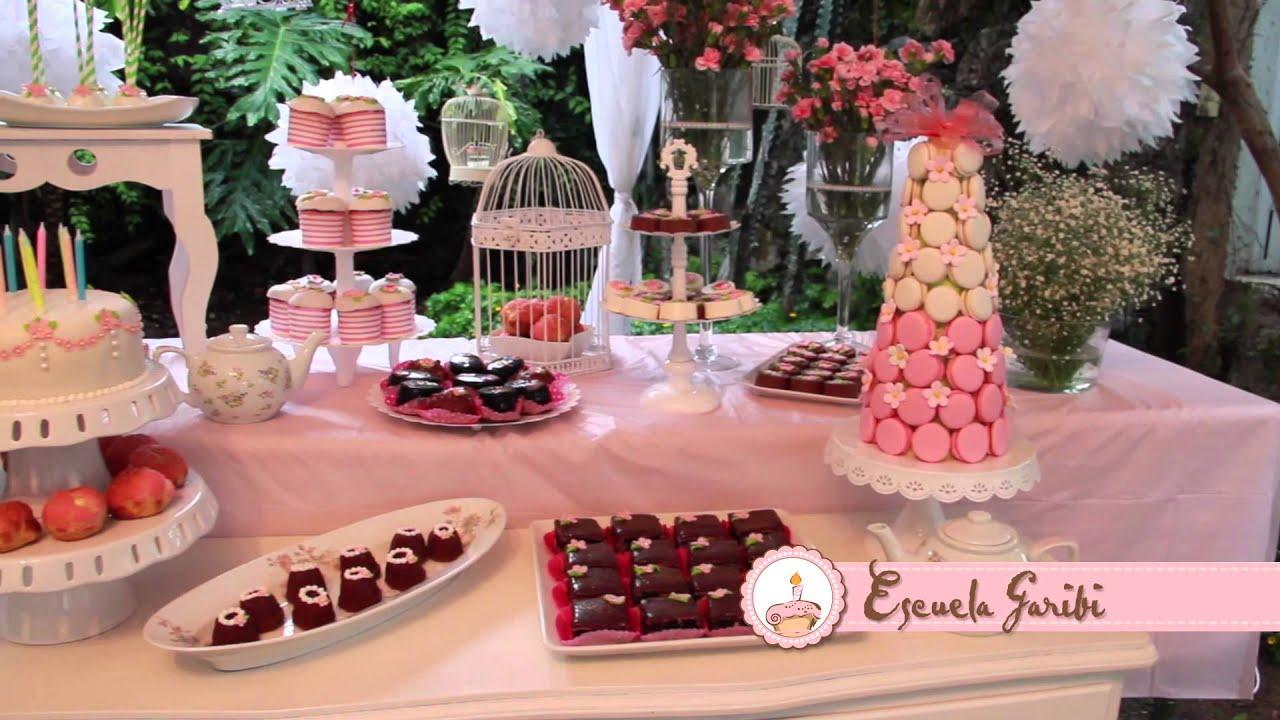 Mesa de postres youtube for Mesa de dulces para 15