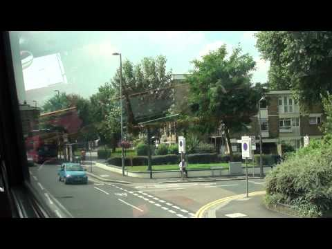(HD) Riding on board London bus Route 69 passing a service on Route 97