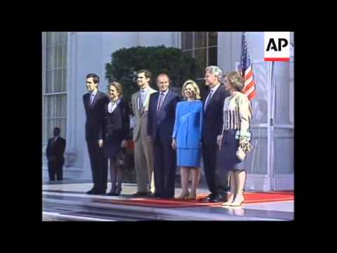 USA: KING JUAN CARLOS AND QUEEN SOFIA OF SPAIN AT WHITE HOUSE