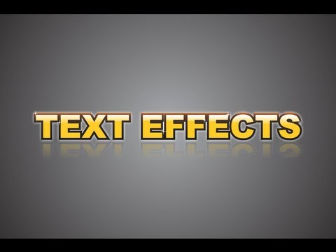 Corel Draw X6 - text effects - how to