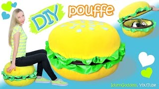How To Make A Giant Burger Storage Pouffe – DIY Giant Burger Pouf Chair - PoufBurger