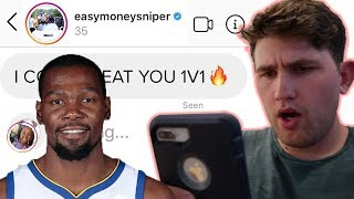 WE DM'D 100 ATHLETES AND KEVIN DURANT ANSWERED!