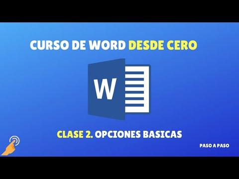 Curso de Word desde 0: clase 2 - Opciones básicas