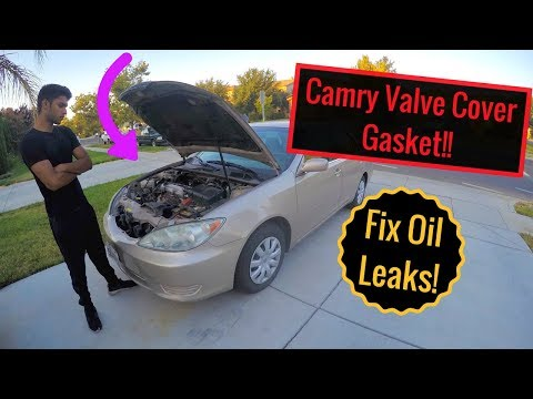 2005 Toyota Camry Valve Cover Gasket Replacement 2AZFE - Oil in spark plug leak fix