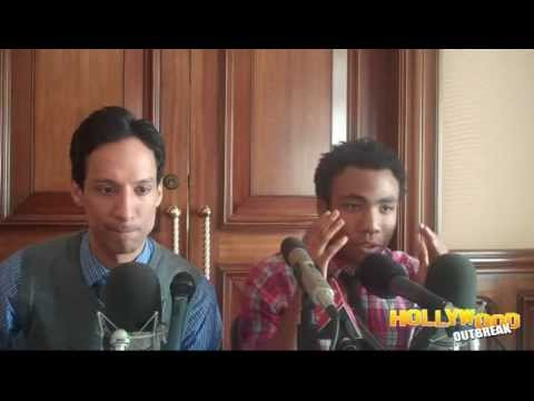 Danny Pudi & Donald Glover are Hard at Work in Their 'Community'
