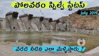 Polavaram project spillway status || diverting the godavari flood water ?