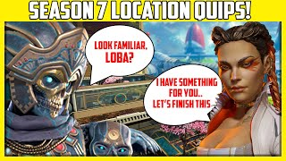 Apex Legends - All New Season 7 Olympus Voice Lines and Locations Quips Explained