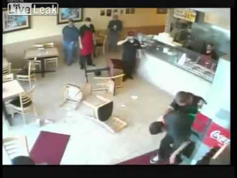Taco Bell Restaurant Gang Fight video