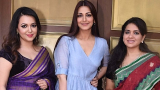 Sonali Bendre & Krishika Lulla At Exclusive Preview Of Shaina NC's Handloom Collection Of Sarees