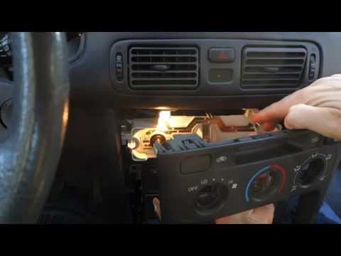 How to replace fan and temp dashboard bulbs Toyota cars. Years 2000 to 2010