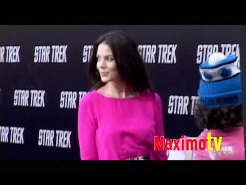 MICHELLE MONAGHAN at STAR TREK Los Angeles Premiere April 30, 2009 Video