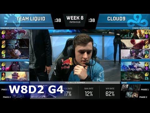 Team Liquid vs Cloud 9 | Week 8 Day 2 S8 NA LCS Summer 2018 | TL vs C9 W8D2