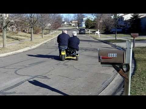 Mini Bike Baja Doodle Bug Side Car Test Ride with Two Adults