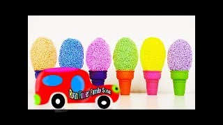 Learn Robocar Poli TOBOT tool car toys and Kinder Joy Surprise eggs and Learn Colors