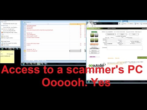 Accessing a scammer's PC