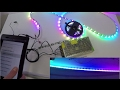 how to install WS2801 LED Strip DMX Aluminum Profile Wifi Audio Controller Instalación del LED