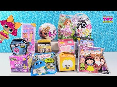 Disney Num Noms LOL Surprise Glitter Tsum Tsum Blind Bag Toy Review | PSToyReviews