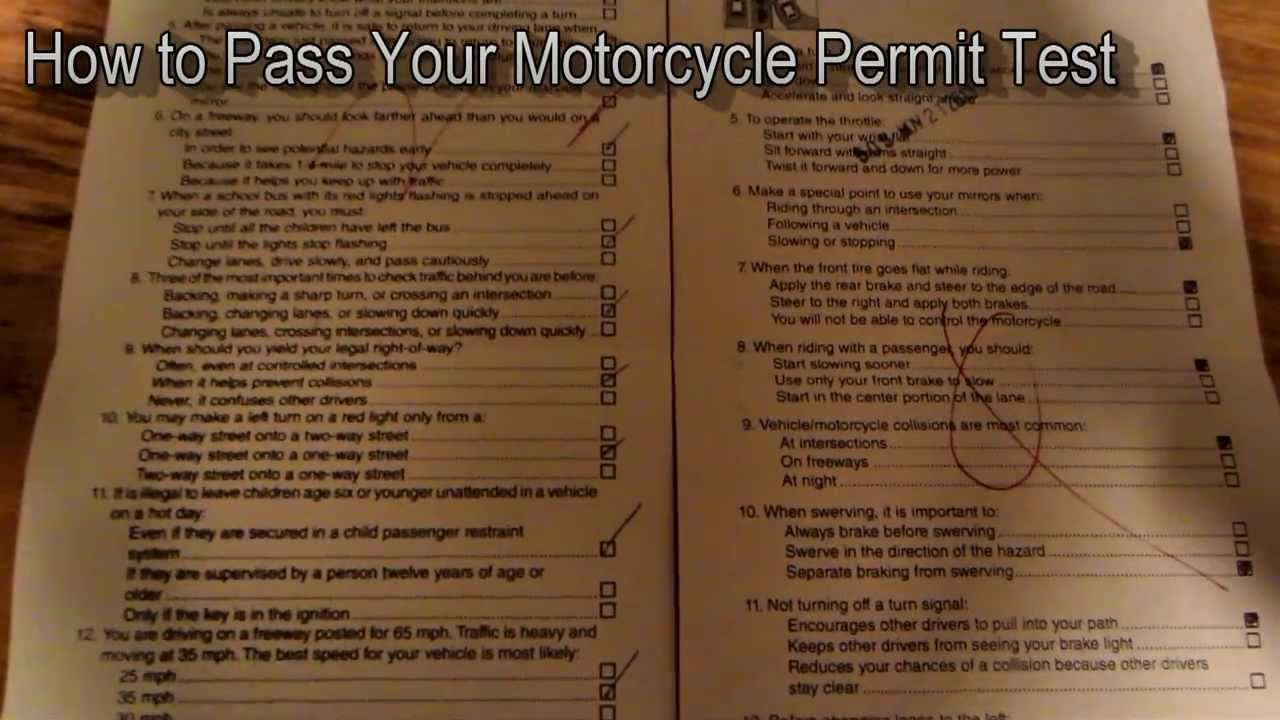 How Many Questions Are On The Permit Test >> Motorcycle Permit Test How to Pass Answers - YouTube