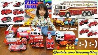 Fire Truck Collection! Kids' Fire Truck Toys Playtime! Diecast Fire Trucks, Police Cars and More!