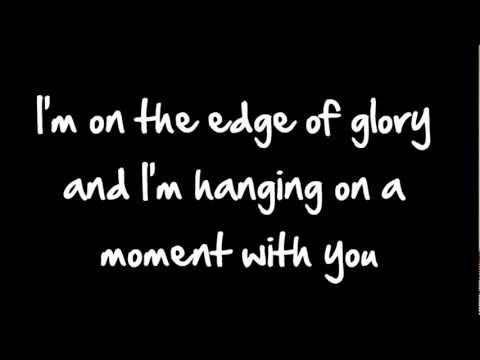 Glee - Edge Of Glory (Lyrics) HD
