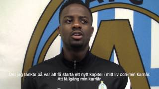 Femi Orenuga talks about the game against Västerås and more