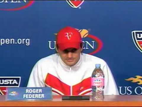 US Open Roger Federer Press Conference 9.06.08