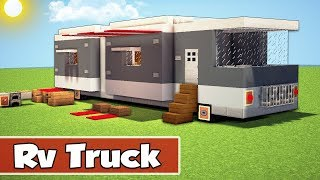 Minecraft: Modern Rv Truck House Tutorial - How to Build a Camper Truck House