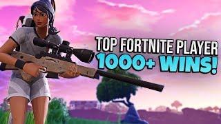 TOP FORTNITE PLAYER // 1000+ WINS // PRO FORTNITE PLAYER