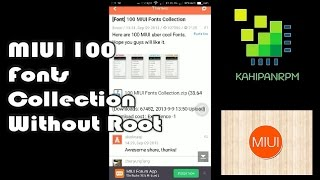 MIUI 100 Fonts Collection Without Root