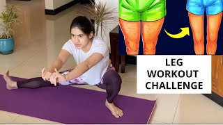 How to lose thigh & hips fat lower body fat fast | Lockdown workout Challenge NO gym No equipment