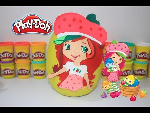 Çilek Kız DEV Sürpriz Yumurta Oyun Hamuru   MLP Shopkins Minion Cicibiciler