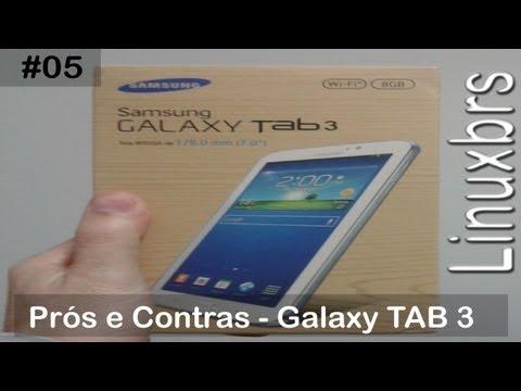 Samsung Galaxy Tab 3 - T2100 SM - T210 - Prós e Contras - PT-BR - Brasil