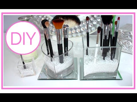 How I Store My Makeup Brushes ♡ DIY