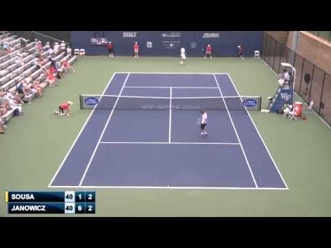 ATP Winston Salem 2014 Round 2 - Joao Sousa (6) vs Jerzy Janowicz [Full Match] {SD}