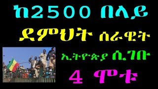 Ethiopia :ከ2500 በላይ ደምህት ሰራዊት ኢትዮጵያ ሲገቡ በአደጋ 4 ሞቱ