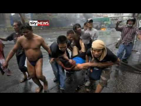 Sky News   Thai Army and violence in Bangkok