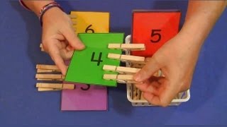Clothespin Number Match