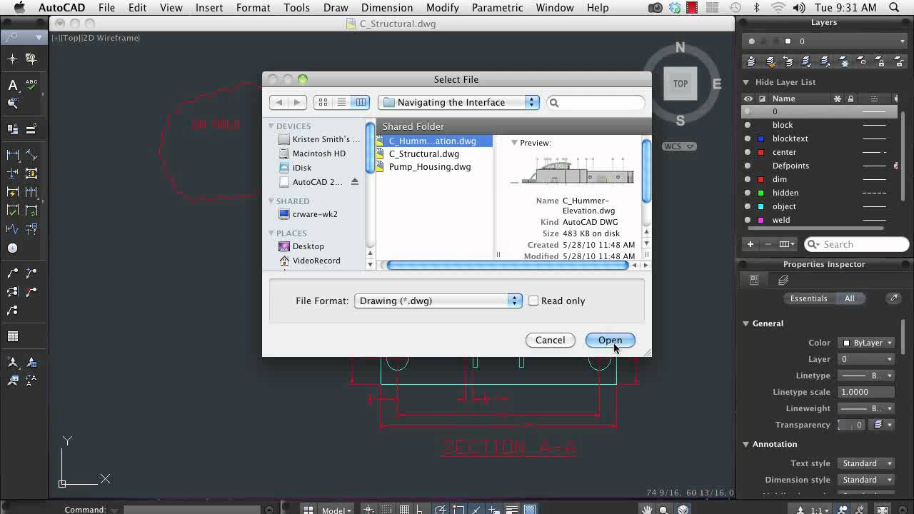 AutoCAD for Mac: Navigating the User Interface - YouTube