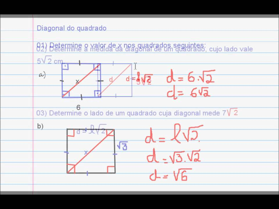 How to Find the Diagonal of a Square Using Its Area