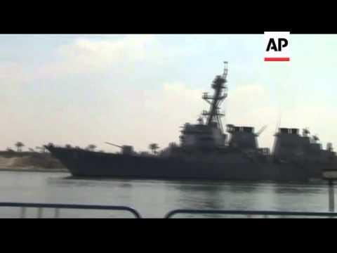 US warships move closer to Libya via Suez Canal