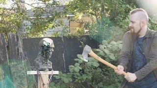 Castlevania whip, swords and axes vs. zombie head (ZGB Ivan)