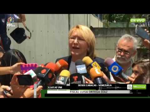Declaraciones de la Fiscal Luisa Ortega Díaz hoy Domingo 06/08/2017