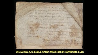 The Holy Bible Was Created By 6 Corporations In The 1600′s – Original Handwritten Translations (Video)
