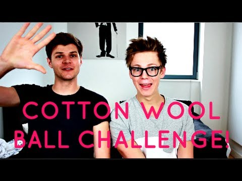 COTTON WOOL BALL CHALLENGE WITH CASPAR LEE!