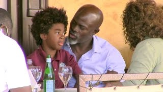 Djimon Hounsou Spends Quality Time With Son