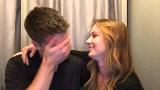 Wife surprises husband with pregnancy announcement