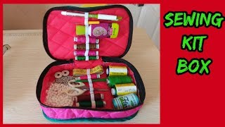 sewing kit box making  in hindi with magical hands diy|amzon|flipkart|snapdeal|voonik|myntra|e-bay|