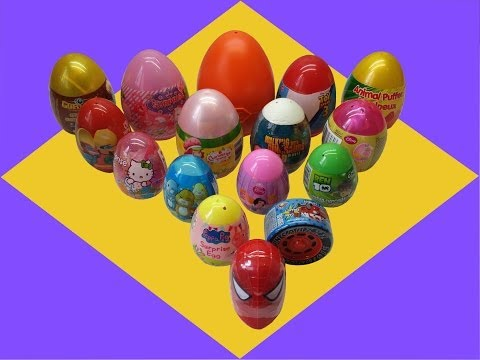 16 Surprise Eggs Gormiti Peppa Pig Playmobil Toy Story 3 Disney Minnie video