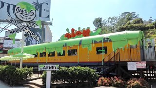 Carney's Express SLIME Train - Nickelodeon Themed Restaurant on Sunset Strip / Limited Slimed Foods